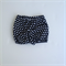 Black Crosses monochrome geometric Shorties Nappy Cover