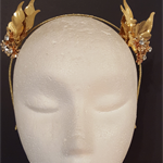 Gold leaf crown,fascinator,tiara,bridal headpiece
