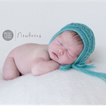 Textured Newborn Bonnet / Newborn Photography Prop / Baby Girl Gift /  Sea Green
