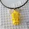 ROBOTS RULE - cool robot pendant handmade in yellow