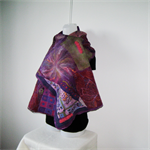 Felted Scarf Wrap  Unique Winter  Art Silk Violet