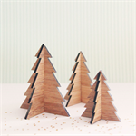 3 Christmas trees decoration ornament home decor ply woodland forest bamboo