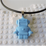 ROBOTS RULE - cool robot pendant handmade in blue