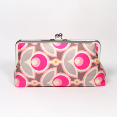 Pink primrose large clutch purse