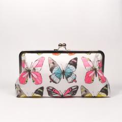 Butterflies large clutch purse
