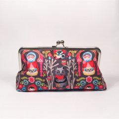 Little red Ridinghood in black large clutch purse
