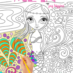 """Colour Me In"" - a colouring book for adults or kids! FREE SHIPPING."