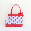 Mini Tote Bag & Purse - Strawberries