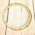 Personalised Gold Bangle Hand Stamped Name Quote Family Gift Family Friend Love