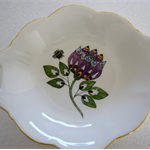 Hand painted Wedgwood dish with abstract flower & a Bee
