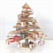 Wooden Christmas tree with decorations..... 50cm