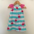 Flamingo flutter sleeve dress, pretty summer dress