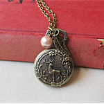 Atticus Finch Watch Necklace Vintage Pocket Deer Woodland Customised