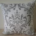 Grey & White Waverley Designer Cushion Cover