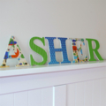 Name Plaque for Wall or Door.  12cm. 5 letters.