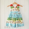 Size 3 Traditional Christmas ribbon dress
