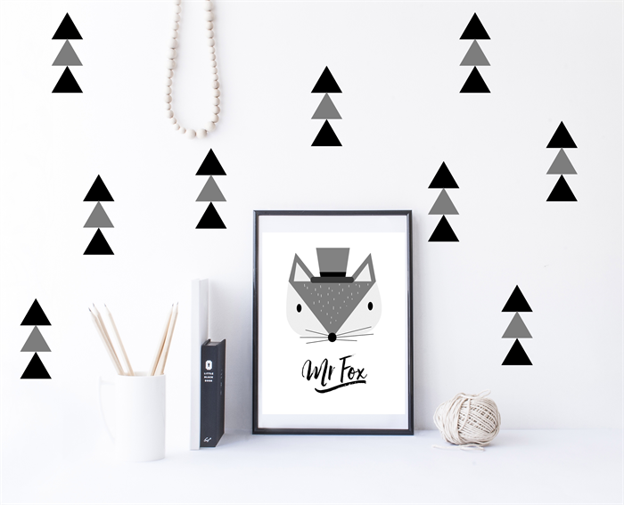 Triangle wall decals wall decal stickers x40