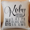 FUNKY custom BABY BOY birth announcement pillow for New Borns, the perfect gift