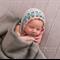 Delicate Mohair Bonnet /  Unisex Newborn Photography Prop / Blues Greens Browns