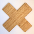 Tasmanian Oak Cross Trivet 14.5cm