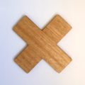 Tasmanian Oak Cross Coaster
