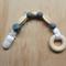 NEW- Silicone Beaded Accessory in Grey & Cream