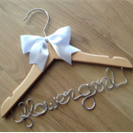 Adorable FLOWER GIRL hanger for the cutest little girl around. Perfect gift.