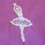 Beautiful Ballerina Machine Embroidered Quilt Squares #2