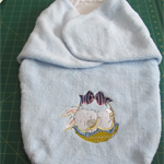 Machine embroidered,handmade Baby swaddle, wrap