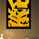 Star Wars Storm Trooper Led Light Box 3D Wax Painting Limited Edition Framed