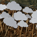 30 Cloud Cupcake Toppers ~ Birthdays ~ Baby Showers