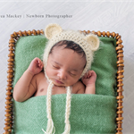 Baby Bear Bonnet  / Newborn Photography / Cream / Cheeky Monkey Hat