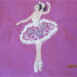 Beautiful Ballerina Machine Embroidered Quilt Squares