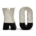 Concrete 'XO' Letters