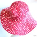 Ladies Red Polka Dot Sunhat Size 58cm