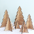 6 Christmas trees decoration ornament decor bamboo ply wood