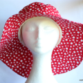 Ladies Red Polka Dot Sunhat Size 58cm