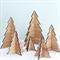6 Christmas trees decoration ornament decor bamboo ply wood gift boxed