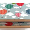 Hot Air Balloon Theme Baby Keepsake Treasure Trinket Memory Wooden Box