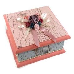 Shabby Chic Keepsake Trinket Treasure Jewellery Memory Wooden Box