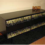 **SOLD** Sideboard Black with 6 drawers modern and unique design