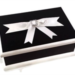 Classic Black & White Keepsake Box