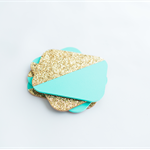 Paint Dipped Glitter Coasters (aqua)