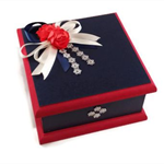 Keepsake Box - Navy & Red