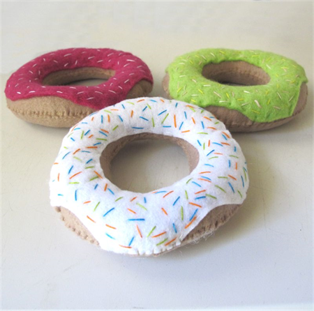 Felt Donuts, Set 3 Large Donut
