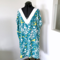 Sz M | Ladies Kaftan | Teal Swallow