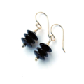 Black Onyx Gemstone and Sterling Silver Earrings