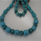 Blue Turquoise and Howlite Necklace & Bracelet Set