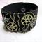Funky Black Wirewrapped Leather