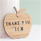 Custom Teacher gift decoration ornament bamboo ply wood personalised apple